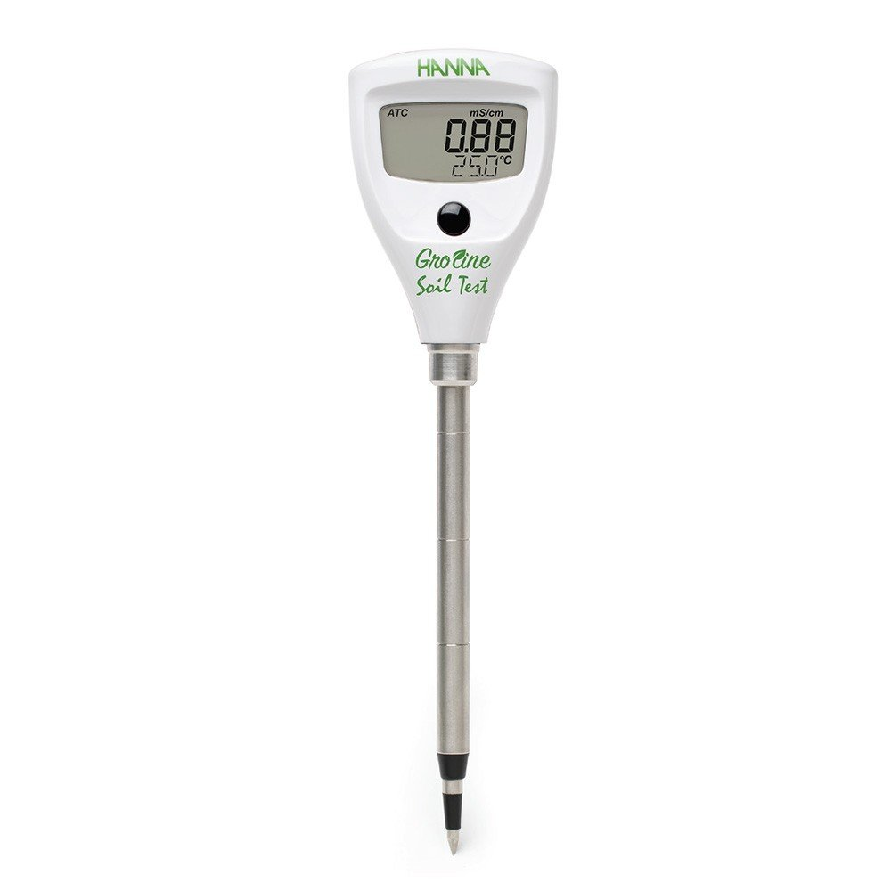 Hanna Instruments HI98331 Soil Test Direct Soil EC Tester, 0.0 to 50.0 Degree C, 0.1 Degree C Resolution, +/-1 Degree C by Hanna Instruments