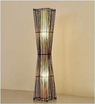 YliJkeT Floor Lamp New Chinese Rattan Floor Lamp Modern