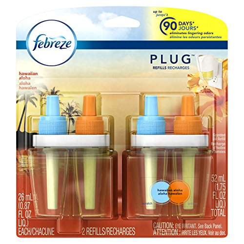 Price comparison product image Febreze PLUG Air Freshener Refills Hawaiian Aloha (2 Count, 1.75 oz)