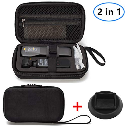 (Helistar Carrying Case and Base Compatible with DJI Osmo Pocket Handheld Portable Travel Protective Storage Case Carry Suitcase)