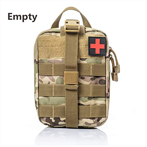 - Jipemtra Tactical First Aid Bag MOLLE EMT IFAK Pouch Trauma First Aid Responder Medical Backpack Utility Bag Military Tactical Backpack Emergency Small Army Rucksack (CP Bag Updated)