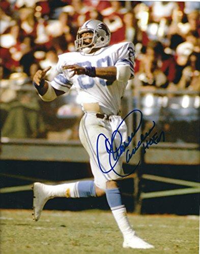Autographed Charlie Sanders 8x10 Hof Detroit Lions Photo