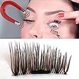 Banstore 4pcs (1 Pair) Magnetic Eye Lashes 3D Reusable False Magnet Eyelashes Extension