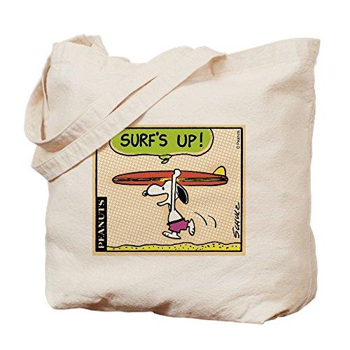 (CafePress Surf's Up! Natural Canvas Tote Bag, Cloth Shopping Bag)