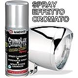 Macota Cromolux - Peinture en spray à effet chromé- Pour toutes surfaces - Peinture multi-usages - 200 ml