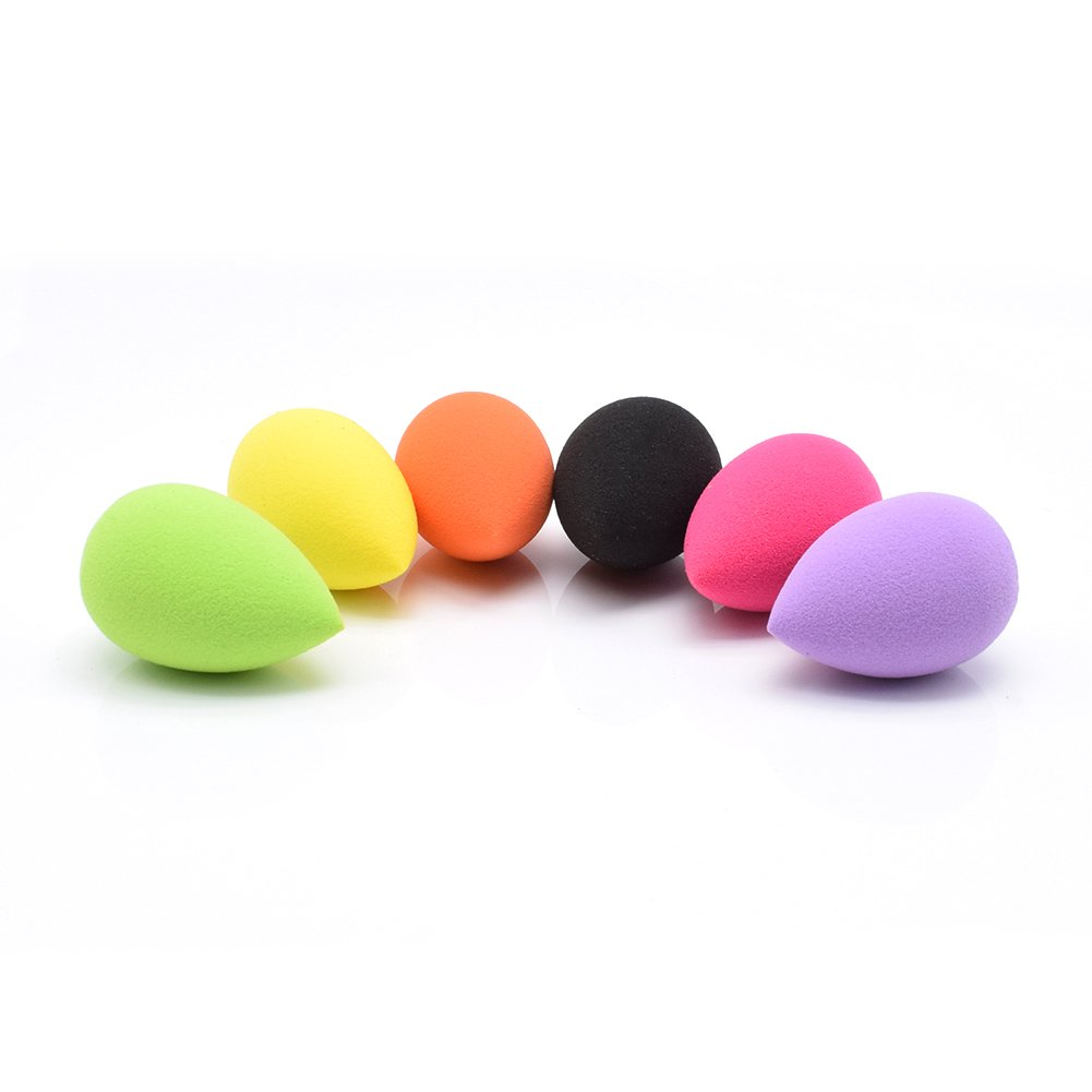 DoloDolovemk 6PCS PRO Makeup Sponge Blender (Non-Latex) Face Puff,MINI Beauty Blender,Foundation Sponge,Blender1.4IN(Dry)/1.6IN(Wet),(6 Colors)