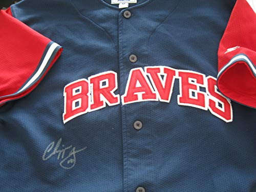 Chipper Jones Autographed/Signed Atlanta Braves Jersey COA
