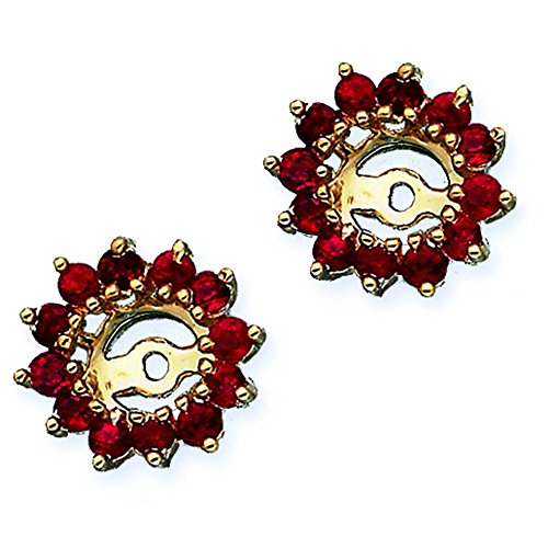 Ruby Floral Earring Jackets in