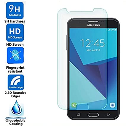 Samsung Galaxy J7 Max Tempered Glass by Sparkling Trends(Samsung J7 Max  Screen Protector)