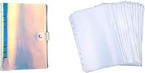 Antner PVC A5 6-Ring Binder (Rainbow Color) Bundle | 12 Pieces A5 6-Holes Binder Pockets