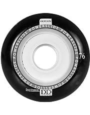 Powerslide Wheels Defcon, zwart, 76mm 84A/78A, 4 stuks
