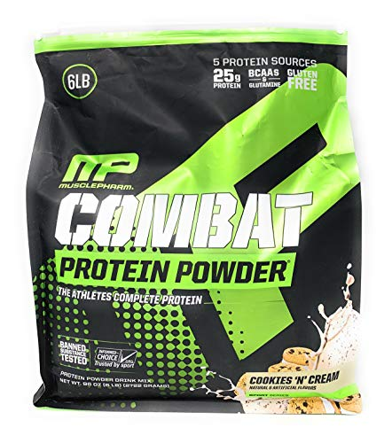 Musclepharm Combat Protein Powder Cookies And Cream, 6 Pound