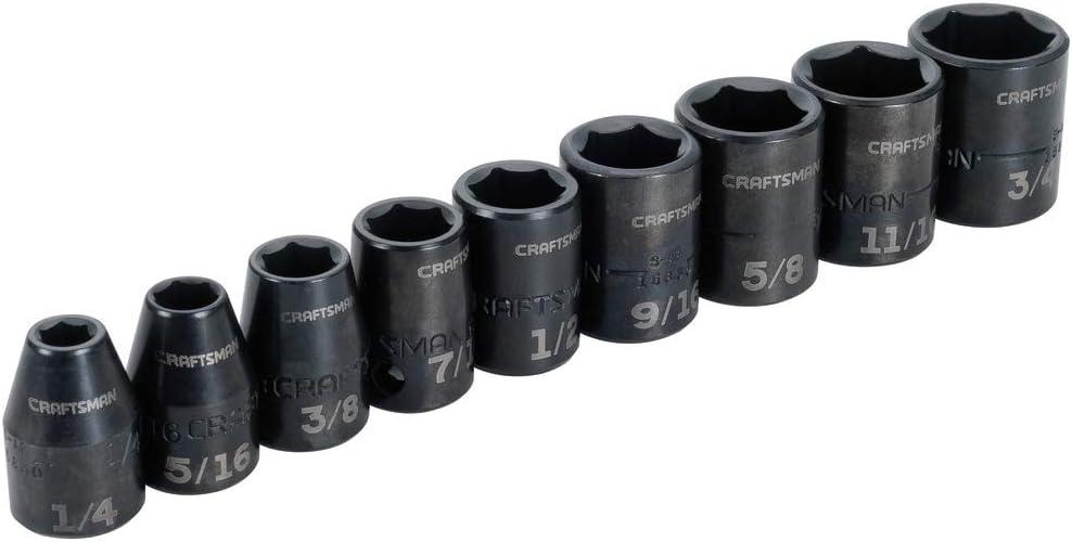 CRAFTSMAN Impact Socket Set CMMT15880 SAE 3//8-Inch 9-Piece