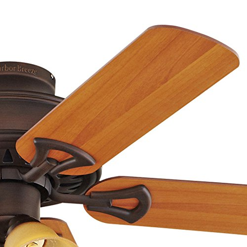 Harbor breeze springfield ii 52 in antique bronze downrod or flush harbor breeze springfield ii 52 in antique bronze downrod or flush mount ceiling fan with light kit amazon mozeypictures