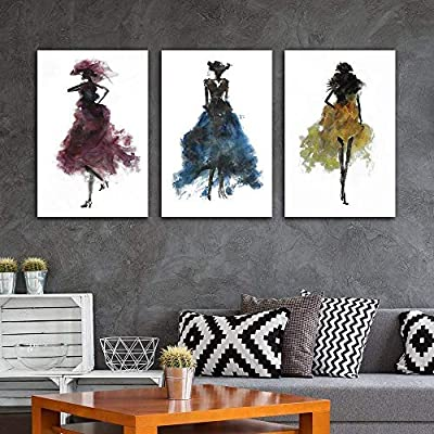 Fashion Ladies Woman Concept Wall Decor x3 Panels, Crafted to Perfection, Alluring Creative Design