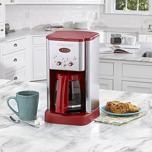 Cuisinart Coffee Maker Dcc 1200 Manual : Cuisinart DCC-1200RT 12-Cup Coffeemaker, Stainless Steel/Red, Desertcart