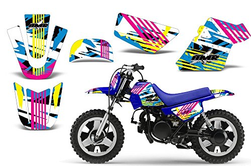 Graphics Kit Decal (Flashback-AMRRACING MX Graphics decal kit fits Yamaha PW50 All years-Flashback)