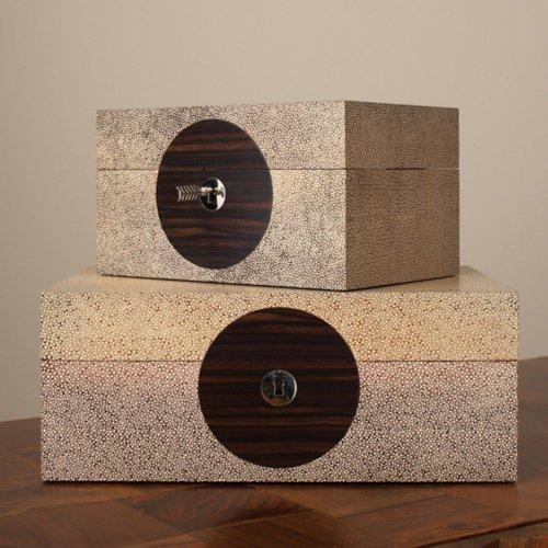 On Target Box - Brown Shagreen - 7.5 x ()