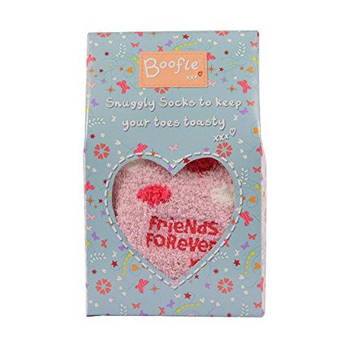 Boofle Boxed Friends Forever Fluffy Slipper Socks HLOIuHO