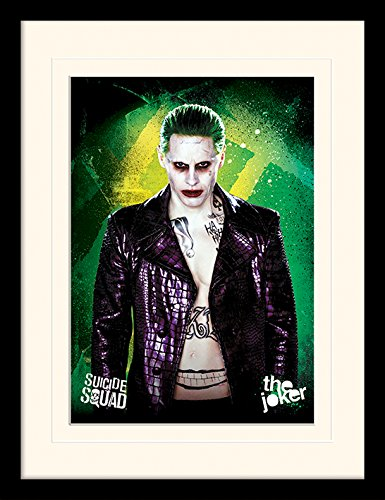 Suicide Squad 'The Joker Montato e Stampa con Cornice, 30  x 40  cm 30 x 40 cm Pyramid International MP11796P-PL