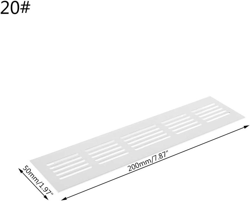 argent Bhty235 grille da/ération pour grille da/ération en alliage daluminium perfor/é t/ôle Web plaque Grille de ventilation