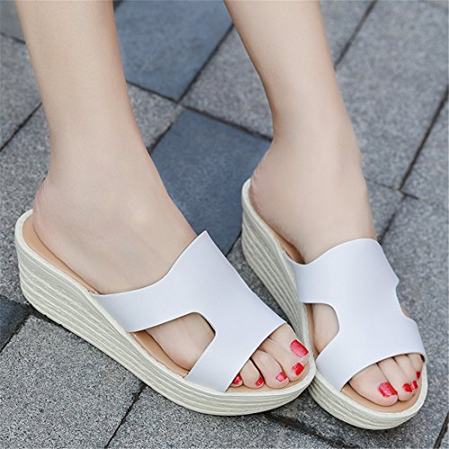 Womens Outdoor Leather Summer Beach Leather Casual Slippers 211 Silver Ob2pqW