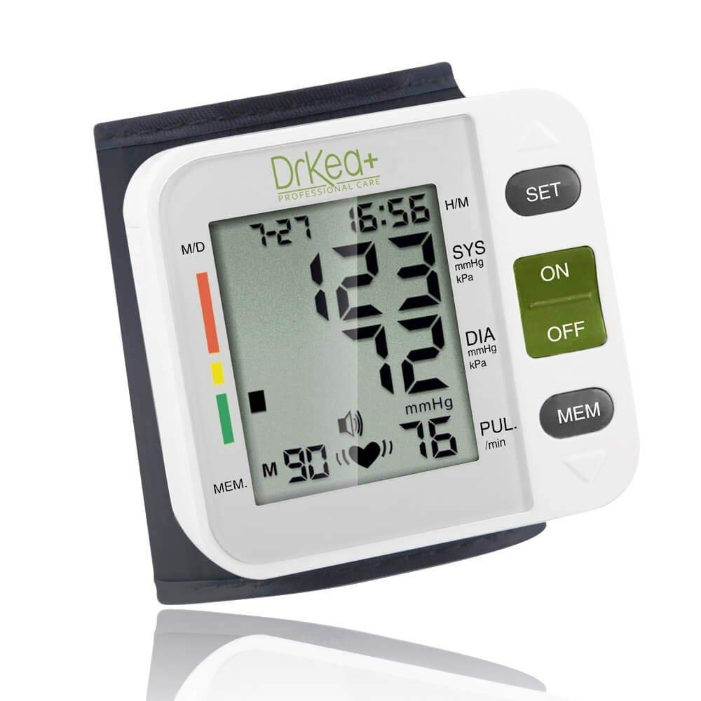 Automatic Blood Pressure Cuff Monitor - Clinical High Blood Pressure Monitors by DrKea - Portable Large
