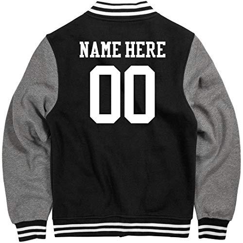 Customized Girl Personalized Varsity Jacket: Unisex Fleece Letterman Varsity Jacket (Men Team Varsity Jackets)