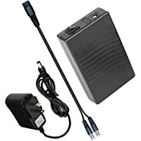Talentcell 12V DC Output Lithium Ion Battery Pack For LED Strip/Light/Panel/Amplifier And CCTV Camera With Charger, Multi-led indicator Black (3000mAh)