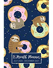 18 Month Planner July 2020-December 2021: Sloth Cute Cover, 2020-2021 Two Year Daily Weekly Monthly Calendar Planner for To-Do List or Goal Agenda Schedule Organizer, Appointment Book