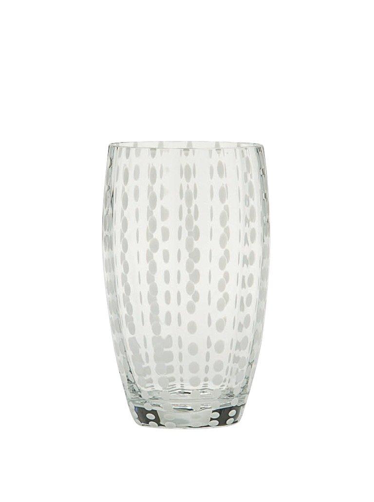 Zafferano Beverage Glasses Perle Clear Set of 6