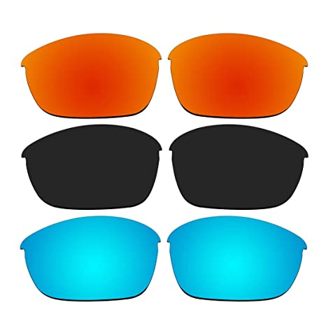 180d036679 Amazon.com  ACOMPATIBLE 3 Pair Replacement Polarized Lenses for Oakley Half  Jacket 2.0 Sunglasses Pack P2  Sports   Outdoors