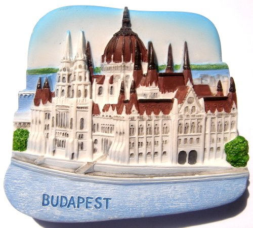 Christmas Gifts Resin Fridge Magnet Hungary. Budapest. Hungarian Parliament - Gifts Hungary Christmas