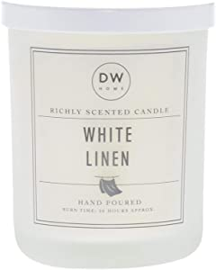 DW Home White Linen Hand Poured Double Wick Candle