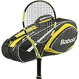 Babolat Pure Aero Tennis Racquet – 2016 AeroPro Drive – STRUNG with 6 Racquet Bag (Yellow Bag, 4-3/8) Review