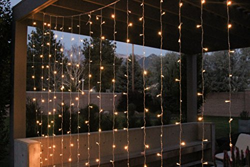 FOSSA LED String Curtain Lights | 9 ft | Perfect for Bedroom, Patio, and Wedding Decor | No Batteries Needed | Great for Indoor and Outdoor