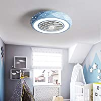 ZMLG 46W Luz de Techo con Ventilador, Creativa Ventilador de Techo ...