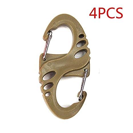 4pcs plástico Acero S Forma Mochila Cierres mosquetones EDC ...