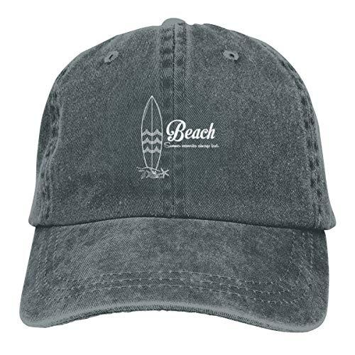 DPBEST Summer Beach Surfboard Deep Heather Baseball Cap Adjustable Unisex Cotton Hat