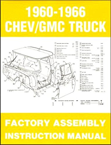 COMPLETE, FULLY ILLUSTRATED 1962 CHEVY & GMC TRUCKS & PICKUPS FACTORY ASSEMBLY INSTRUCTION MANUAL - INCLUDES C10, C20, C30 K10. K20, K30, Panel, Pickup, Suburban - CHEVROLET (Chevy Pickup K30)