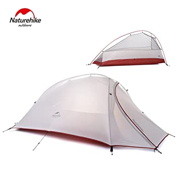 1 Person 4 Season Tent Double Skin 20D Silicone Fabric Super Lightweight C&ing Tent (gray  sc 1 st  Amazon.com & Amazon.com : 1 Person 4 Season Tent Double Skin 20D Silicone ...