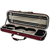SKY 4/4 Full Size Violin Oblong Lightweight Case with Hygrometer Red/White Sports Style