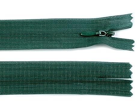 1 Reißverschluss 30 cm nicht teilbar nahtverdeckt freie Farbauswahl
