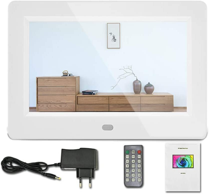 7 Inch Digital Photo Frame 1024 /× 600 Resolution with Remote Control and Motion Sensor,Black
