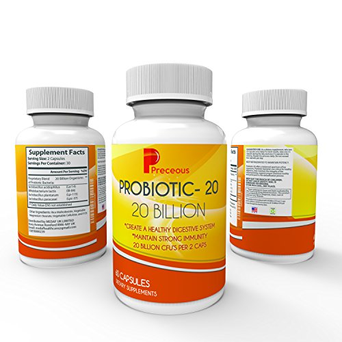 #1 Recommended Best Probiotics 20 Billion CFS for Digestion & Immune Support Organic Ultimate Flora Perfect Probiotics Supplement For Men And Women Lab Tested And Certified