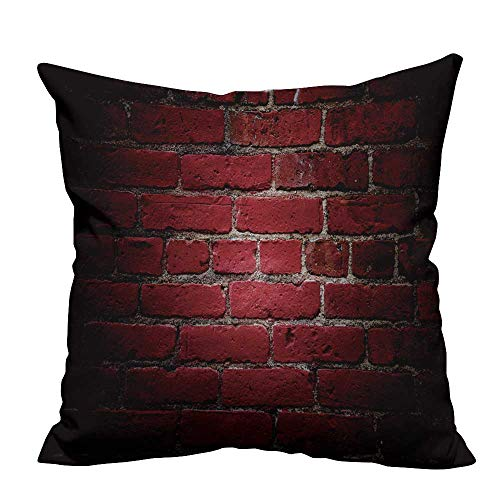 YouXianHome Pillow Case Cushion Cover Texture of Brick Wall for Background.Classic Brick Wall Pattern Closeup Shot Printing Dyeing (Double-Sided Printing) 17.5x17.5 inch