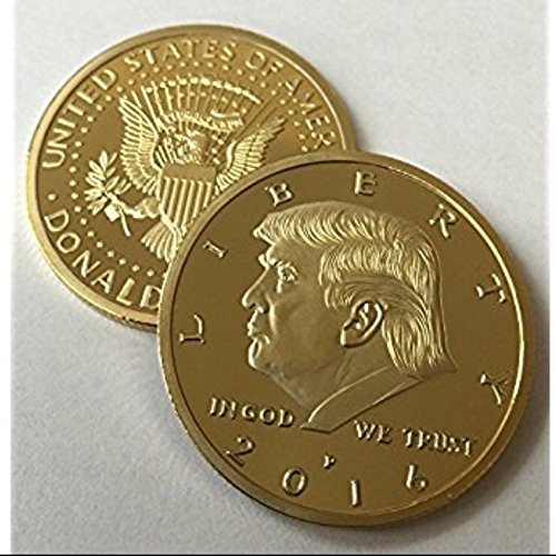 Donald Trump 2016 24kt Gold Plated EAGLE Presidential Commemorative Coin 30mm by Aizics Mint