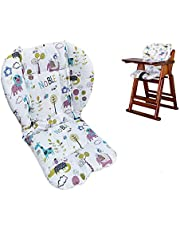 Twoworld High Chair Cushion, Large thickening Baby Stroller/Car/High Chair Seat Cushion Liner Mat Pad Cover Protector Breathable (Animal World)