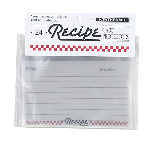 Weatherbee Recipe Cards, 3 by 5-Inches, Set of 24 Harold Import Company 064