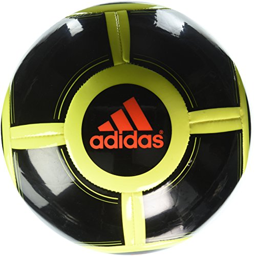 adidas Performance Ace Glider II Soccer Ball, Black/Solar Yellow/Solar Red, Size 3